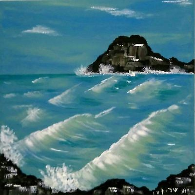 Original Canvas Painting Signed by Sharon Simcha 20x 20cm