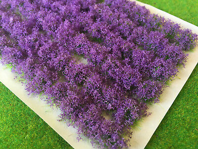 Lavender Flower Bush Tufts - Model Railway Scenery Purple Warhammer Plants House