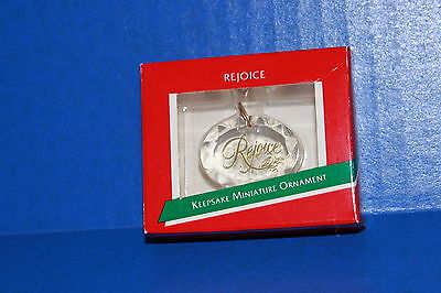 1989 Hallmark Miniature Christmas Ornament Rejoice