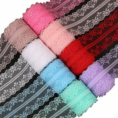 3 row rose trimming Bridal Net Tulle by M Rosette Flower Lace Fabric Trim