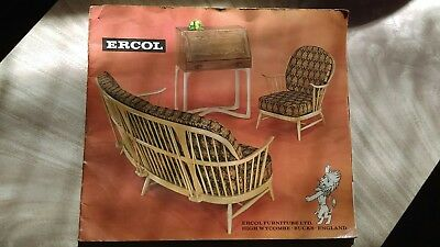 ERCOL Retro Mid-Century Furniture Brochure Catalogue 1969 Day Bed/Chairs/Table