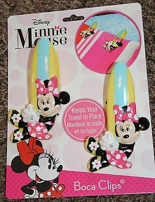 NEW 2-pack DISNEY vacation MINNIE MOUSE towels BOCA CLIPS chairs BEACH cruise