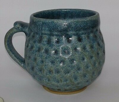 Handmade Blue Stoneware Tea/Coffee Cup 10 fl.oz. 250 cc New and Unused Only One.