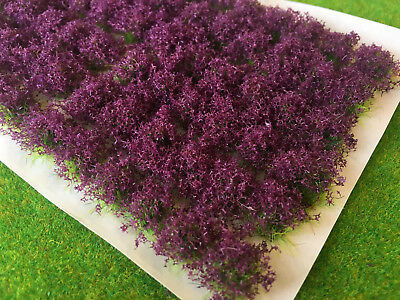 Purple Flower Bush Tufts - Model Scenery Railway Wargames Self Adhesive Basing