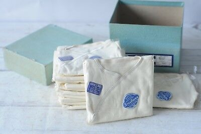 Vintage Rubens NOS Infant Undershirts 12 Boxed & Wrapped Double Breasted Size 2