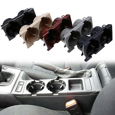 Grey Car Center Holder For 97-06 BMW E46 Grey Water Drink Cupholder Box Plastic