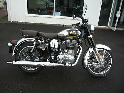 Royal Enfield Classic Chrome Motorcycle NEW & Unregistered (Black)