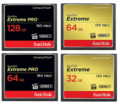 CF Card SanDisk 64GB 32GB 128GB 16G Compact Flash Ultra Extreme Pro Memory Card