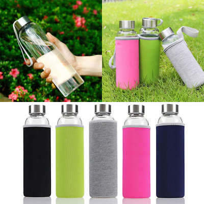 New 550ML Outdoor Portable Insulate Glass Water Juice Tea Milk Bottle Cup Mug