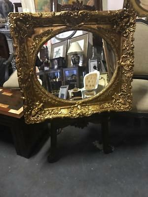 Gorgeous French Style Ornately Carved Giltwood Mirror  80 X 74 Cm