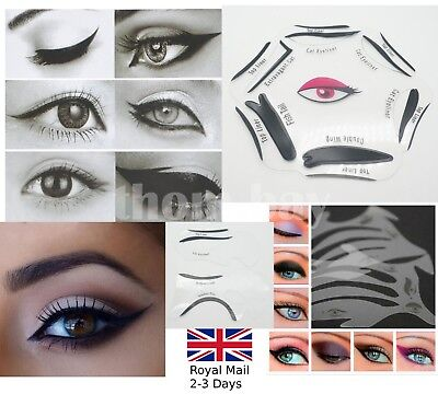 Eyeliner Stencil Eyeshadow Smoky Cat Guide Template Set Quick Eye Makeup Tool