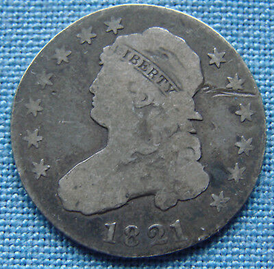 *nice Looking 1821 Capped Bust Quarter - Estate Fresh*