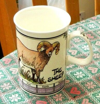 Dunoon Fine Bone China Ming Shu Chinese Astrology Mug - The Sheep