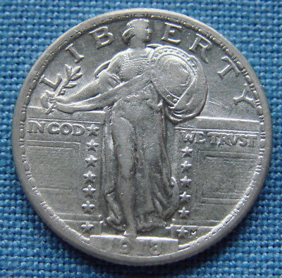 *very Nice 1918 Standing Liberty Quarter - Estate Fresh*