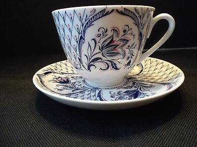 St. Petersbburg, Russia Imperial Porcelain Hand Decorated Cup and Saucer