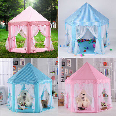 Kids Baby Princess Castle Playing Tent Girls Boys Play House Indoor Outdoor Fun