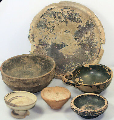 Six Greek and Etruscan pottery items
