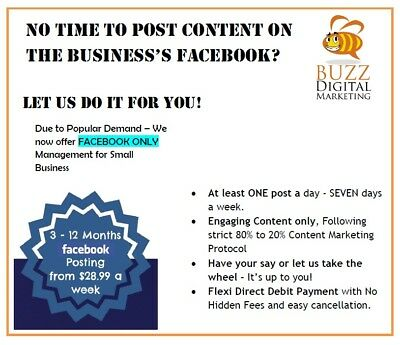 12 Months Facebook Management for Small Business