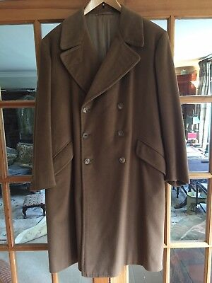 Mens Vintage Double Breasted Camel Coat