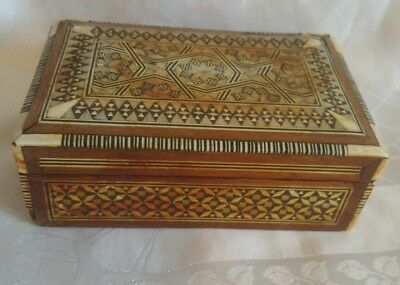 small khatam mother of pearl inlaid box cards or jewellery box