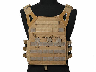 Tactical JPC Combat Vest Molle Assault Airsoft Paintball Military Tan