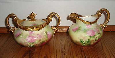 Old PICKARD Studio Hand Painted China Porcelain Sugar Creamer * SIGNED REURY