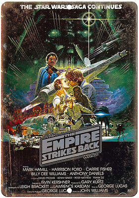 """10"""" x 7"""" Metal Sign -The Empire Strikes Back Star Wars Vintage Look Reproduction"""