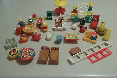 LOT FISHER PRICE LITTLE PEOPLE Vintage farm,fire,Sesame st., carriage etc.