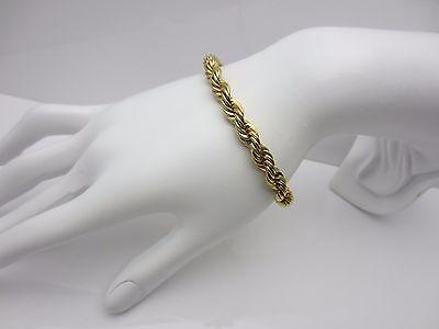 Vintage Costume Jewellery Napier Bracelet Gold Plated Tailored Collection 1980s