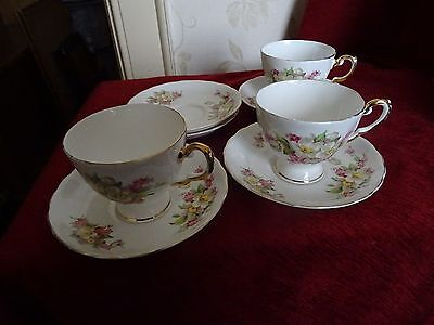 Tuscan cups & saucers 3 cups 5 saucers
