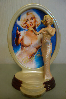 "Bradford Exchange ""Diamonds And Pearls"" Marilyn Monroe Plate and Figurine."