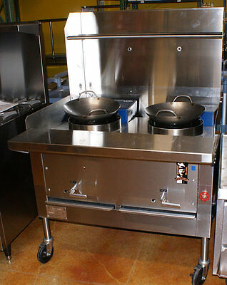 "SURPLUS - Wok Range, 40"" wide for use with 14"" Woks, Montague Model CRM-2"