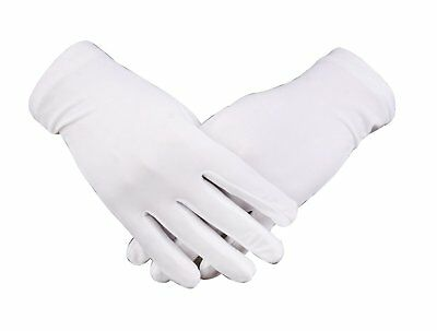 WDSKY White Gloves Men Gloves for Dry Hands Sleeping Gloves PACK of 2 Pair