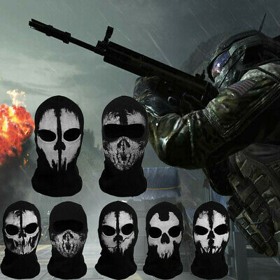 Schädel Hood Biker Kostüm Mask Maske For Call of Duty 6 Ghost Sturmhauben COD