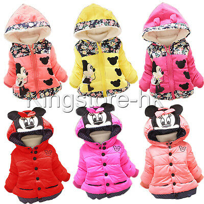 Toddler Kids Baby Girls Mickey Minnie Mouse Hoodies Coat Jacket Hooded Outwear