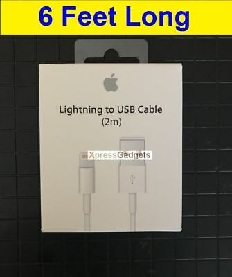 6ft-25X OEM Original Apple iPhone 7 7S 6 6S Plus 5C Lightning USB Cable Charger