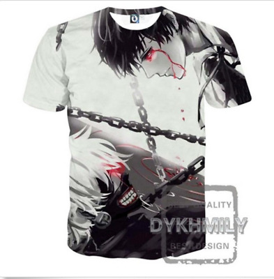 2017  Fashion Women/Men Tokyo Ghoul Anime 3D Print Casual T-Shirt