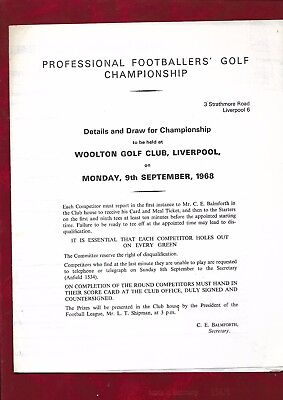 1968 Professional Footballers Golf Championship at Woolton Golf Club, Liverpool