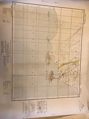 1930 War Office Aden Map - Genuine Cloth Backed