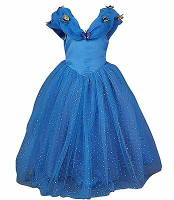 Cinderella Dress Costume Princess Dress Girls Cosplay Party Gown Butterfly Dress
