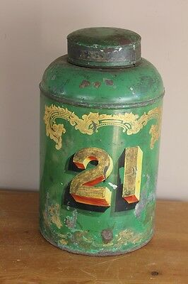 victorian tole tea cannister