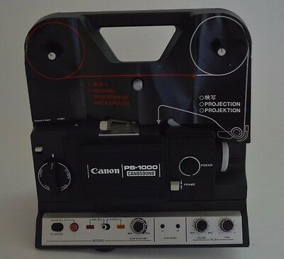 Vintage CANON PROJECTOR CINE PS-1000 CANOSOUND 8mm Sound & Image Magnetic Motor