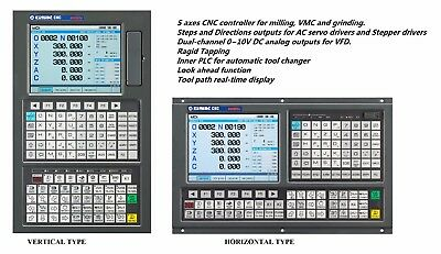 Servo 5 Axes Cnc Controller For Mill And Machining Center,w/ Inner Plc For Atc