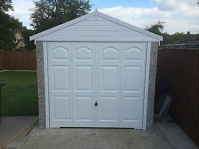 GARADECK UPVC FASCIA  SECTIONAL CONCRETE GARAGE 16'2''x 8'5''(APEX ROOF)