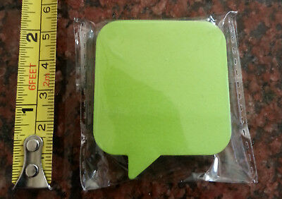 """Caption Sticky Notes, 90 Sheets Green Caption Measures Approximately 1-3/4"""" x 2"""""""