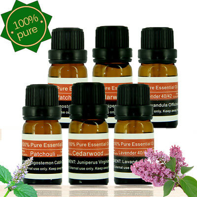 100% Pure Essential Oils 5ml 10ml Therapeutic Grade Aromatherapy Free Shipping Z