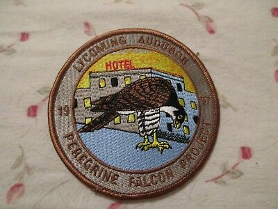 Embroidered Patch - 1997 - LYCOMING AUDUBON PERIGRINE FALCON PROJECT
