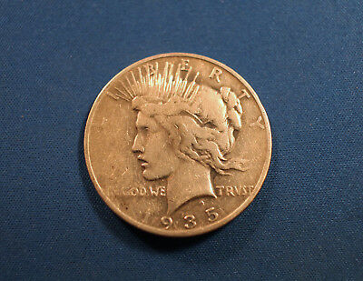 1935-S Peace Dollar No Reserve! As pictured