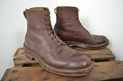 VINTAGE 1940s T ROGERSON & SONS BOOTMAKER BROWN LEATHER BOOTS SCOTS MADE SIZE 7