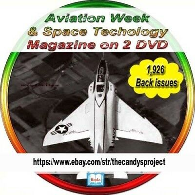 Aviation Week Flagship Magazine Vintage Books   2 DVDs 1,926 Back issues